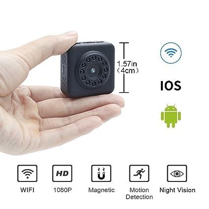 Mini Cámara Espía WiFi 1080P HD LXMIMI Cámara Inalámbrica Escondida Súper Pequeña Cámara HD Niñera CAM