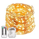 TryLight Fairy Lights, 200 LED Battery Fairy Lights 20m 8 Modes Copper Wire String Lights with Remote Control for Halloween Christmas Wedding Party Indoor Outdoor Garden