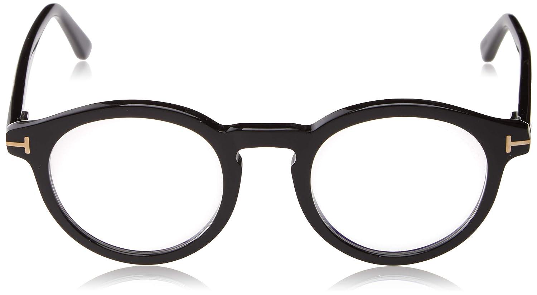 Black 48.0 Nero Lucido Tom Ford Unisex Adults/' FT5529-B Optical Frames