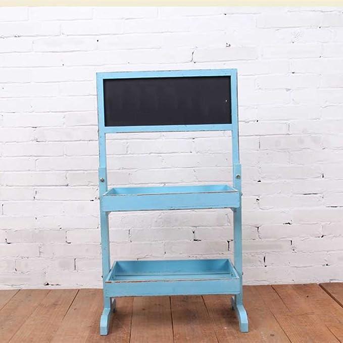 Pérgola Azul Flor De La Pared Pizarra Pequeña Cafetería Tienda De ...