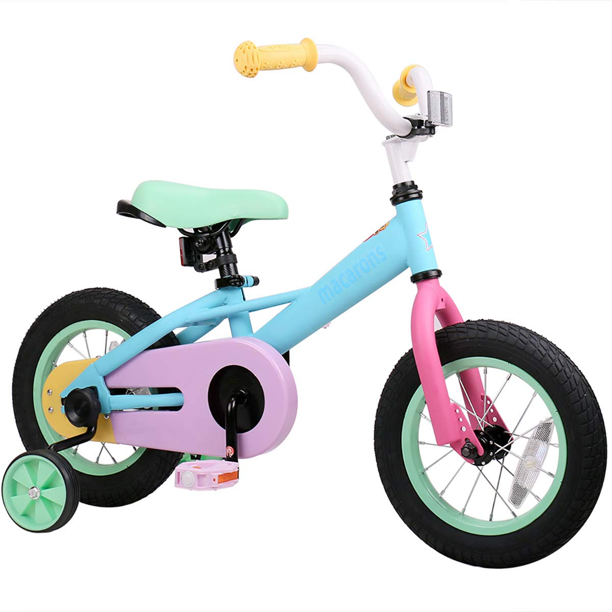 JOYSTAR 14 Inch Kids Bike for 3 4 5 Years Girls, Child Bicycle with Training Wheels & Coaster Brake for 3-5 Years Kids, 85% Assembled (14 inch)