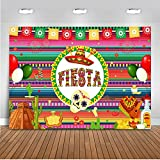 Mehofoto Fiesta Backdrop Taco Bout Mexican Dress-up Photography Background 7x5ft Vinyl Fiesta Theme Birthday Party Banner Backdrops
