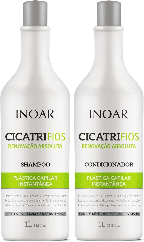 Shampoo e condicionador CicatriFios Plástica Capilar Inoar
