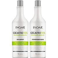 Inoar Kit shampoo e condicionador CicatriFios Plástica Capilar 1L, Inoar, Não, pacote de 2