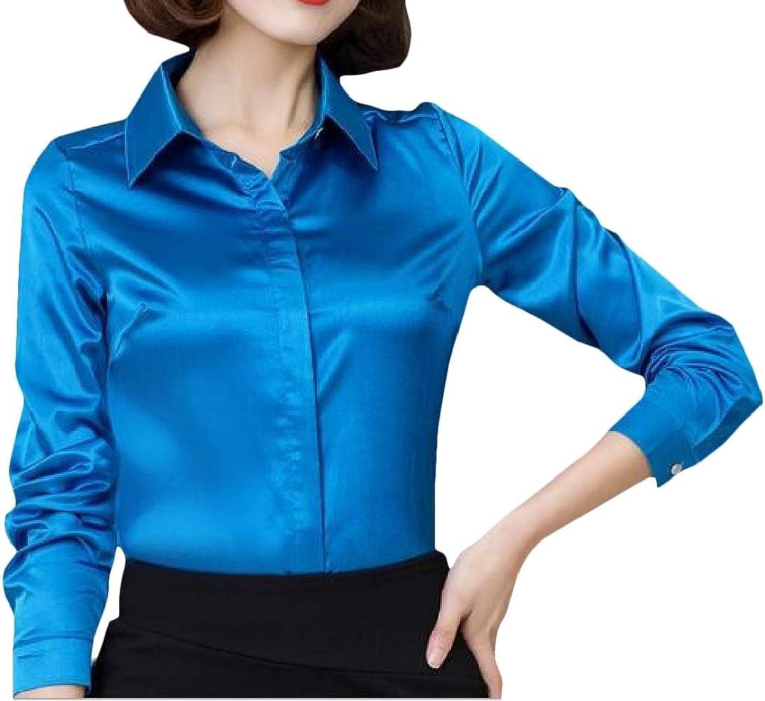 H&E - Camisas - Manga Larga - para Mujer Azul Azul XS: Amazon.es: Ropa y accesorios