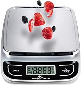 Easy@Home Digital Kitchen Scale Food Scale with High Precision to 0.04oz and 11 lbs capacity, Digital Multifunction Measuring Scale, EKS-202
