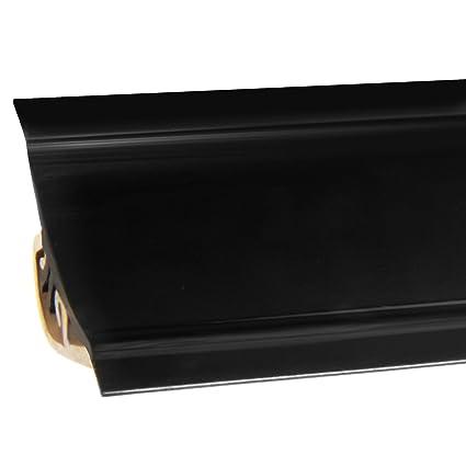 HOLZBRINK Copete de Encimera Negro Embellecedor de Remate PVC Listón de Encimeras 23x23 mm 150 cm