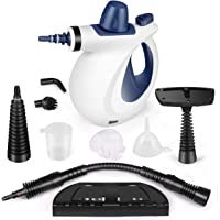 KodaQo Handheld Pressurized Steam Cleaner, Steam Cleaning with 9-Piece Accessory Set Purpose and Multi-Surface All Natural for Home, Kitchen, Auto, Patio and More