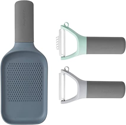 Blue /& Grey Leo Multifunctional Lipped Paddle Grater BergHOFF 23cm