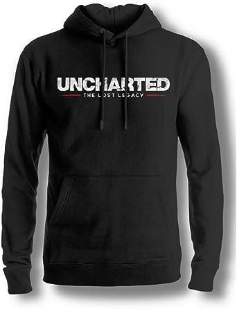 Uncharted - The Lost Legacy Logo Hombres Sudadera con capucha - Negro: Amazon.es: Ropa y accesorios