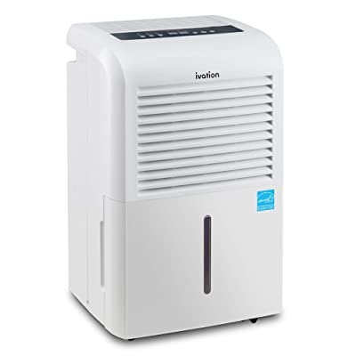 .com - Ivation 4, 500 Sq Ft Energy Star Dehumidifier with Pump, Large Capacity Compressor Includes Programmable Humidity, Hose Connector, Auto Shutoff and Restart and Washable Filter -
