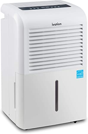 White, Casters /& Washable Air Filter Hose Connector Ivation 70 Pint Energy Star Dehumidifier Includes Programmable Humidistat Large-Capacity For Spaces Up To 4,500 Sq Ft Auto Shutoff//Restart
