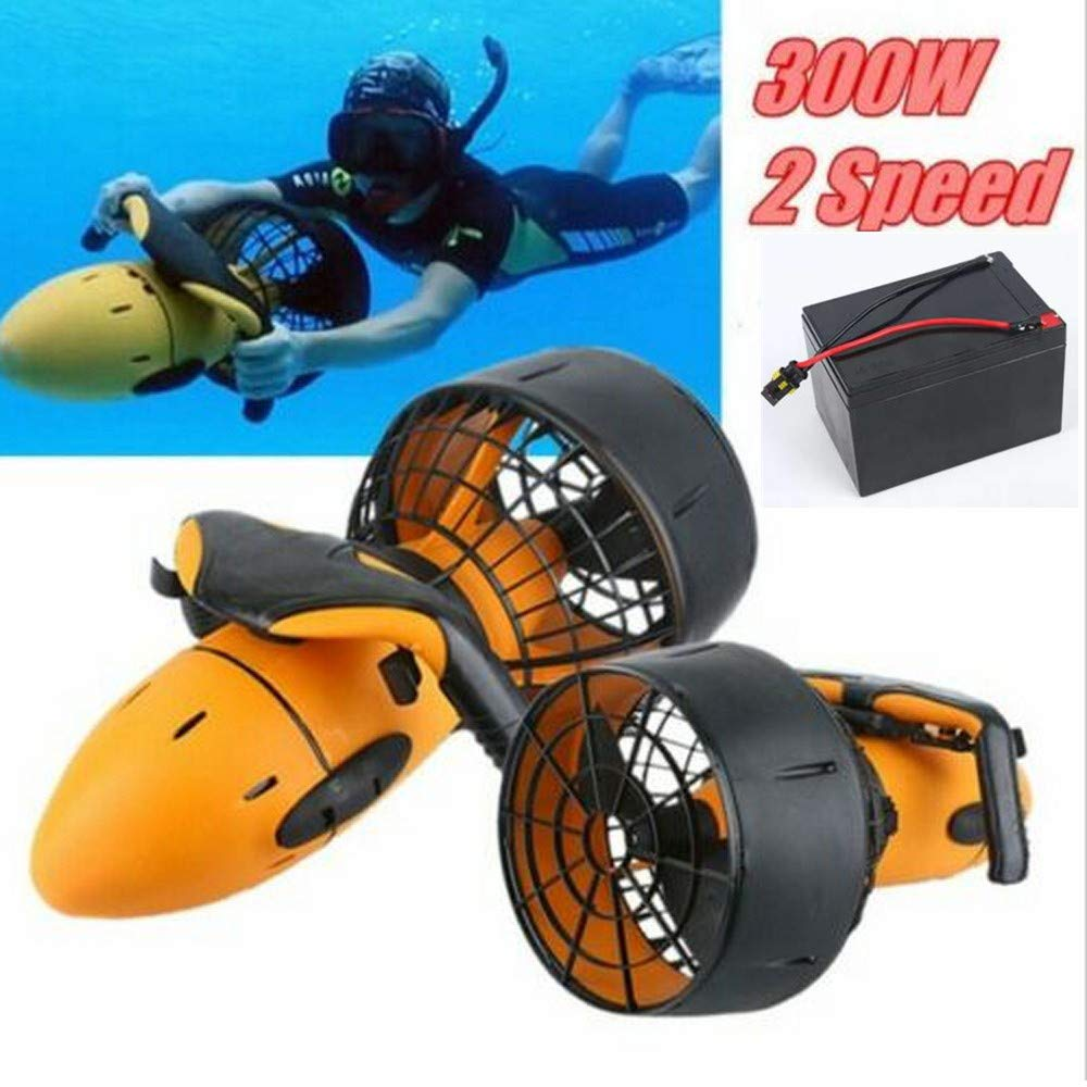 Changli Under Water Scuba Sea Scooter,Waterproof 300W Electric Sea Scooter Dual Speed Underwater Propeller Diving Pool Scooter Water Sports by Changli