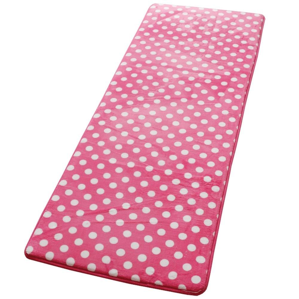 Pink far away 80160cm Door mat Floor mats - flannel + memory foam + eco-friendly latex sole, high-density sponge, four seasons universal tatami strip thick sponge mat, suitable for living room, bathroom, kitchen - 5 colors