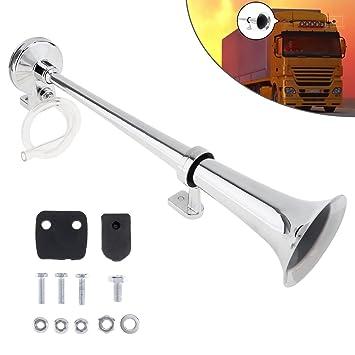 Bocina de tipo trompeta muy ruidosa, de 12 V y 150 dB, de aire, con compresor, para camión, coche, barco o tren: Amazon.es: Coche y moto