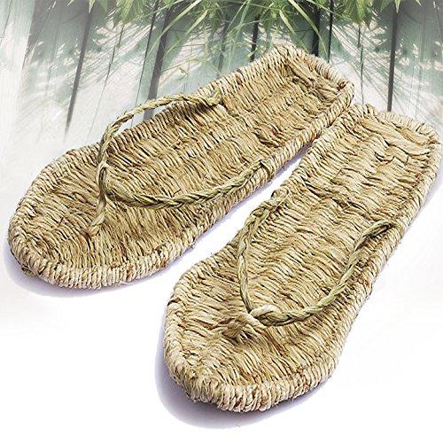 General Anestesia Nuevas Tejidas Sandals Versión Coreana 41 Blando Chanclas 41 Mano A Sandalias De Zapatillas Puro Fondo Paja CwItxxqp