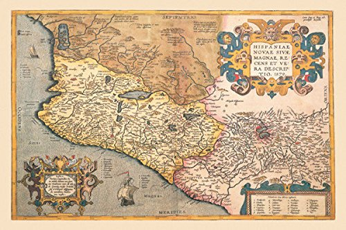 Nautical Map Of South West America Print 20'' X 30'' by Nautical Home Decoration