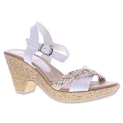 Spring Step Women's Bliss White Sandal 40 M EU, ...