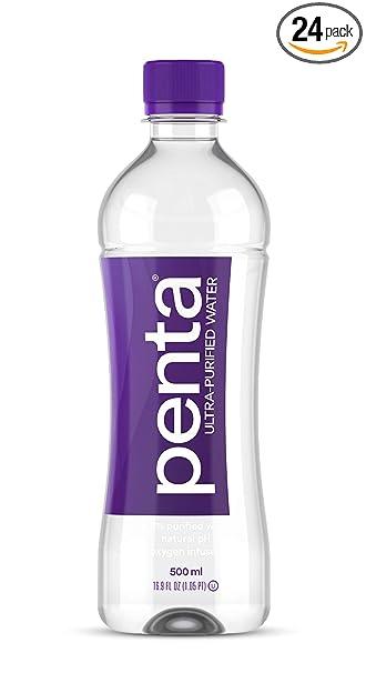 4b2b3ca4b1 Amazon.com : Penta Ultra-Purified Water, 500mL (Pack of 24), Oxygen ...