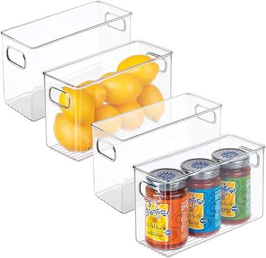 mDesign Juego de 4 cajas de almacenaje medianas – Cajas ...