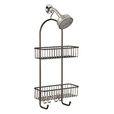 InterDesign Classico Extra Large Shower Caddy – Bathroom Storage Shelves for Shampoo, Conditioner and Soap, Bronze