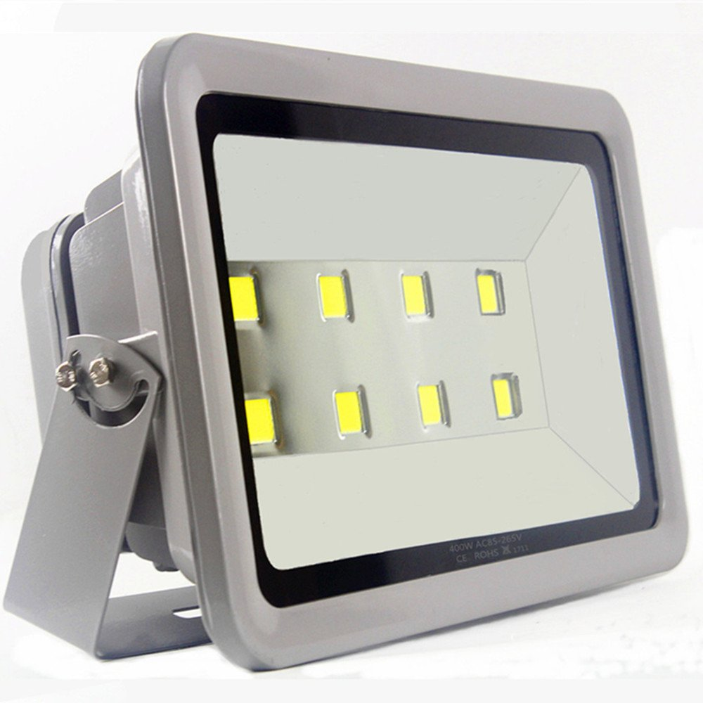 LED Flood Light 400W Outdoor Lighting – AI YONG 6000K SUPER BRIGHT Waterproof Path Lights White Light Outdoor Flood Lights 40000LM 100% Aluminum Housing 50,000 Hrs, 3-Year Warranty