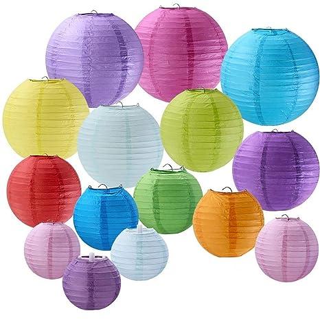 supla 15 pack colorful round paper lanterns chinese paper lantern 4