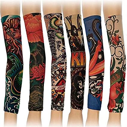 Poseidon temporales tatuaje mangas 6 Styles Mix extensible partido ...