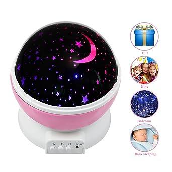 tropicalfan noche estrellada luces proyector para niños, rotación ...