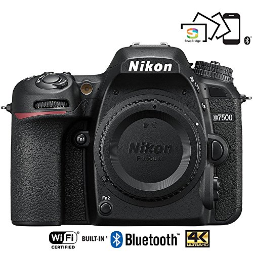 Nikon D7500 20.9MP DX-Format Wi-Fi 4K Digital SLR Camera Body – (Certified Refurbished)
