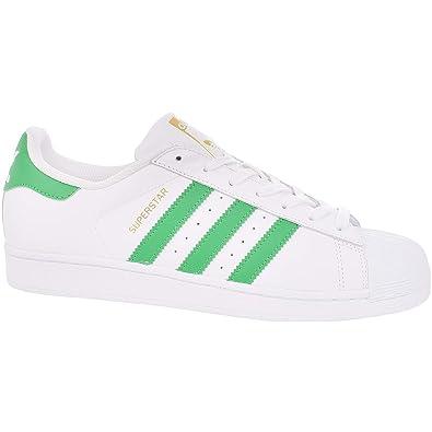 size 40 173d1 89679 adidas Originals Boys Kids Superstar Foundation Trainers - Wht Grn - 4