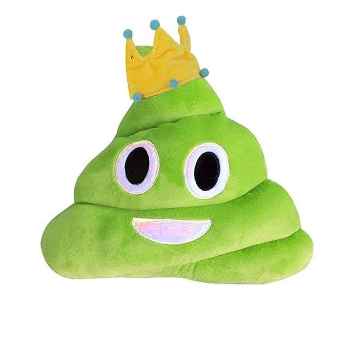 Amazon.com: CheryltLJZ Amusing Emoji Cojín, lindo almohada ...