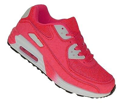 Art 661 Neon Luftpolster Turnschuhe Schuhe Sneaker Sportschuhe Damen