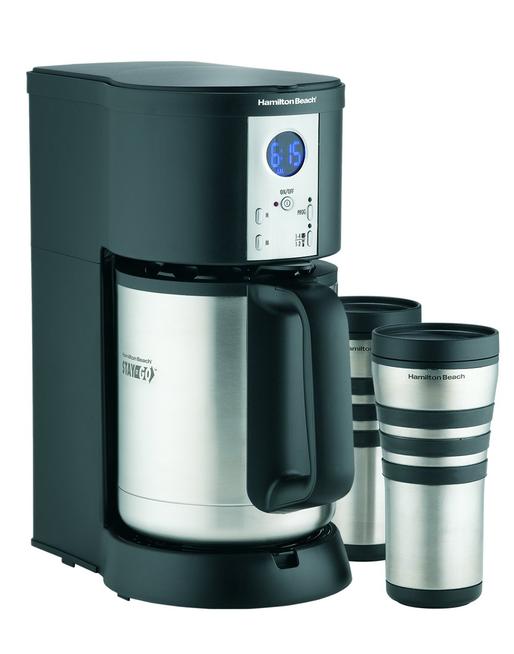 Hamilton Beach Coffee Maker, Stay or Go Digital with Thermal Insulated Carafe (45237R)