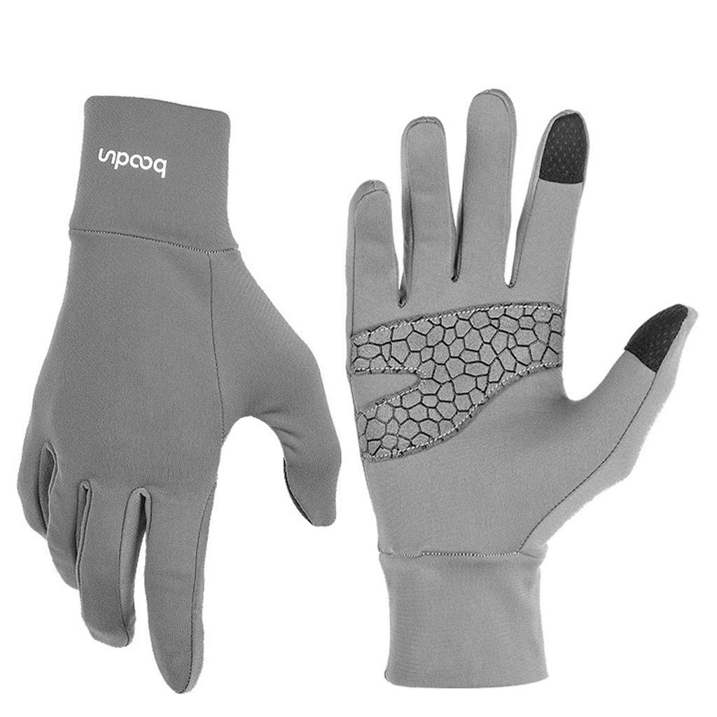 Unisex Winter Gloves, Warm Thermal Gloves Running Gloves Cold Weather Gloves Driving Riding Cycling Gloves Outdoor Sports Gloves for Men and Women (Gray, M)