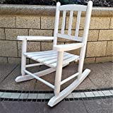 Wooden Outdoor Chairs Rockingrocker - K031WT Pure White Child's Rocking Chair/porch Rocker - Indoor or Outdoor - Suitable For 1-4 Years Old