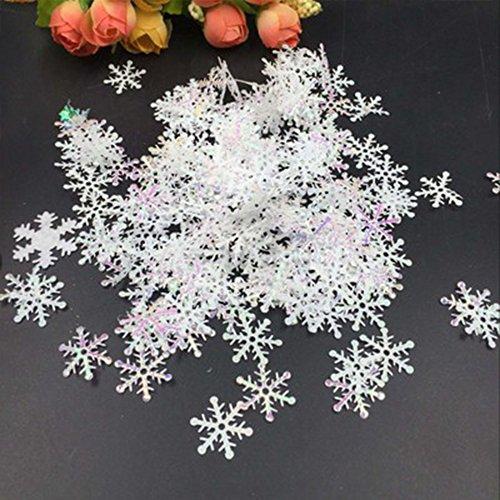 White Fake Snowflakes