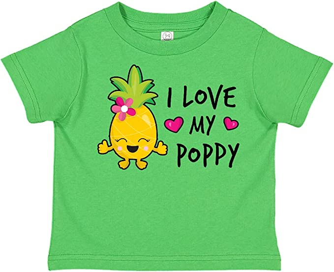 inktastic I Love My Poppy with Pineapple Toddler T-Shirt