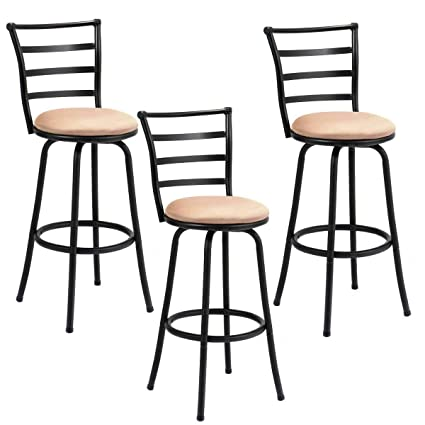 Pleasant Amazon Com 3 Pack Steel Frame Modern Barstool Pub Chairs Alphanode Cool Chair Designs And Ideas Alphanodeonline