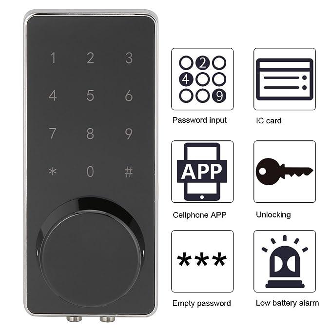Zerodis - Juego de Cerradura de Puerta con Bluetooth y contraseña ...