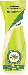 product image for Florida Crystals Certified Organic Raw Cane Sugar, Flip-top Canister, 12 oz