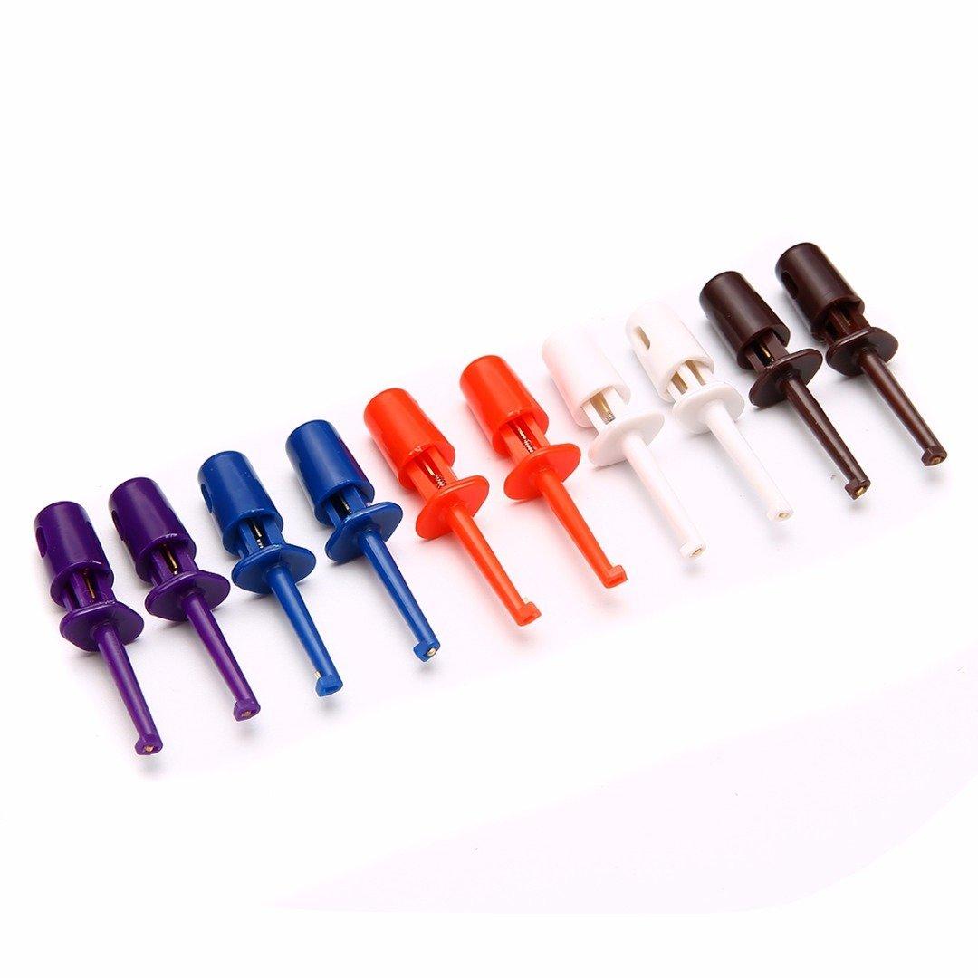 Haobase Lot de 10 mini crochets de test pour multim/ètre /électronique