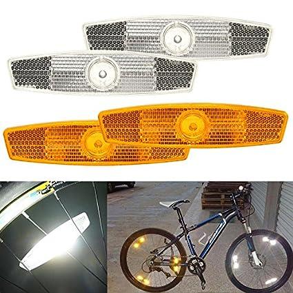 2Pcs Bicycle Bike Wheel Reflector Spoke Reflective Mount Vintage Clip Warning RS