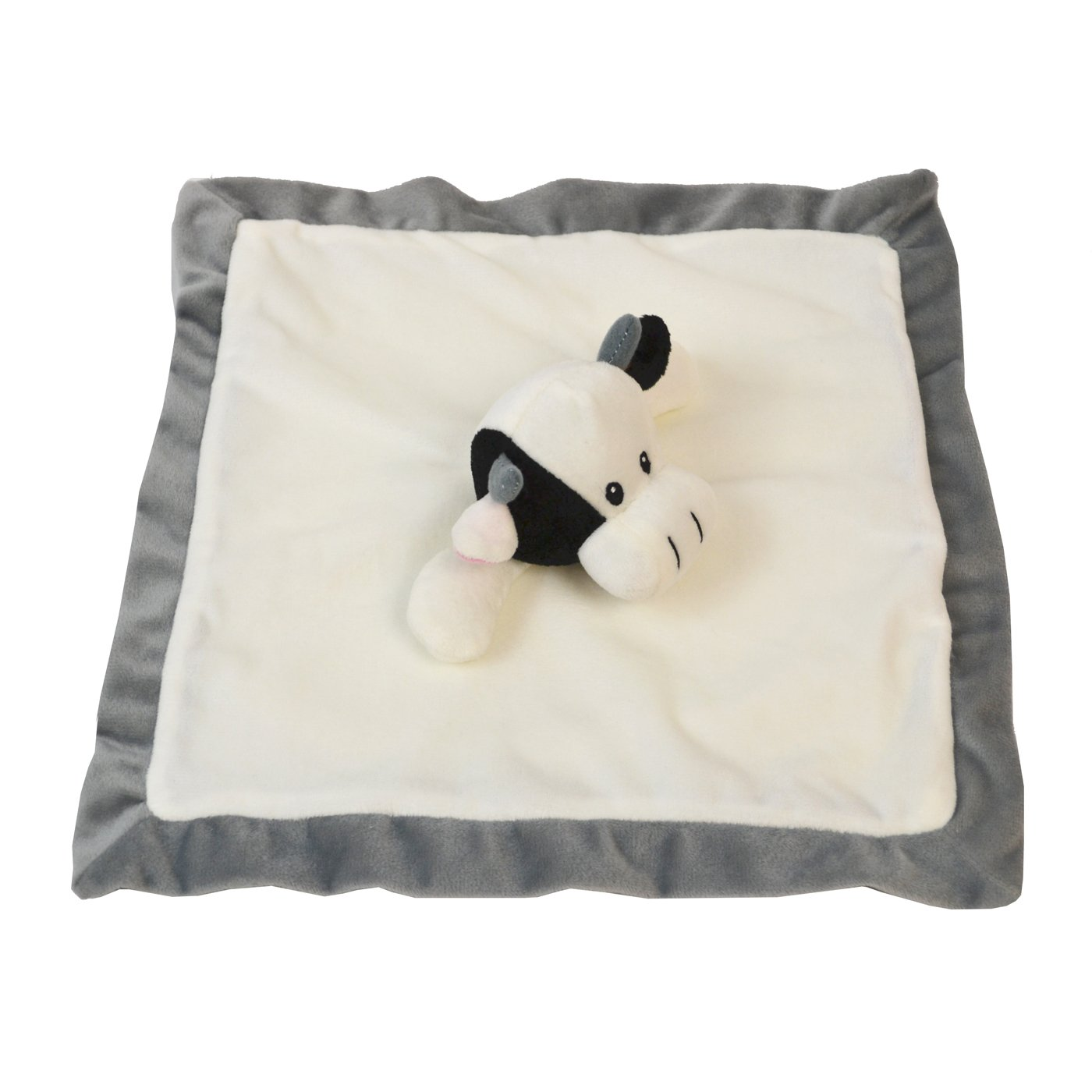 Lovey Security Blanket 12 inch Square Stuffed Animal Baby Blankie for Girls or Boys (Cow) by Baberoo product image