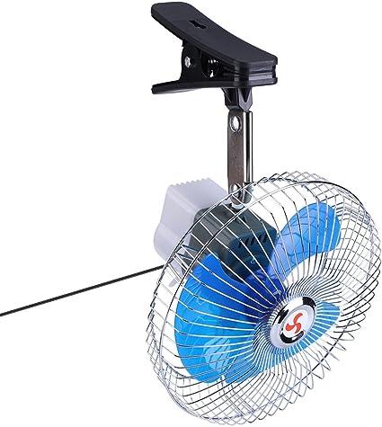 Tnfeeon 12V 25W Ventilador para automóvil eléctrico Clip Fans Mini ...