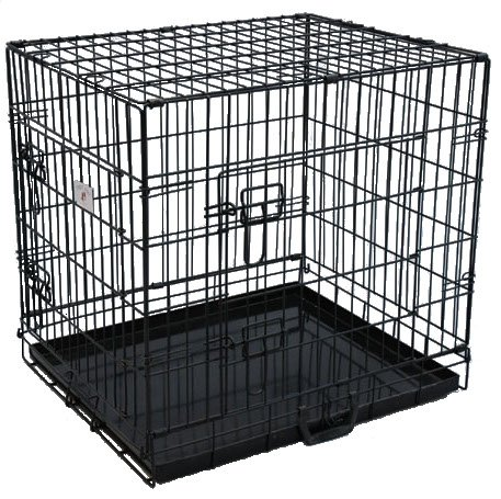 Best Pet Black 24″ Double-Door Suitcase Style Folding Metal Dog Crate with Metal Pan – 24″(l) x 20″(w) x 23″(h) Review
