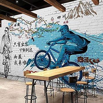 Mural Papel Pintado Papel Tapiz De Bicicletas Grandes Murales ...