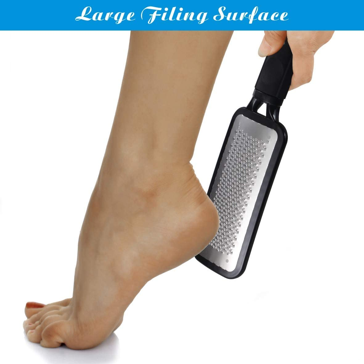 Colossal Pedicure Rasp Foot File, Professional Foot Care Pedicure Stainless Steel File to Removes Hard Skin, Can Be Used On Both Dry and Wet Feet: Health & Personal Care