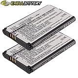 2x Exell Li-ion 3.7V Battery Fits BAMBOO WACOM CTH-470K, CTH-470S, ACK-40403, PTH-850 Tablets Replaces B056P036-1004, ACK-40403, 1UF553450Z-WCM, SLA-A328, F1134J-711