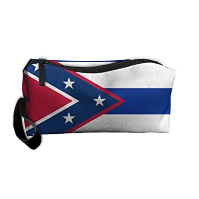 Kuswaq Flag Of Cuba (Southern Independence) Novelty Travel Multifunction Cosmetic Bag Toiletry Organizers Business Bag Portable Makeup Pouch